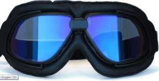 Brýle AVIATOR A10 motocyklové nebo letecké retro vintage brejle - CELOČERNÁ  MODR b8c49d0076