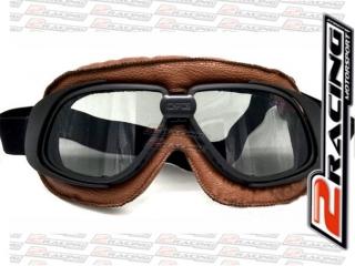 Brýle AVIATOR A10 motocyklové letecké - hnědé s kouřovými skly 9ec8e48b2e