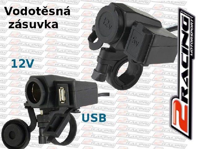 Vodotěsná zásuvka USB + 12V na motorku 8e93dfbabd